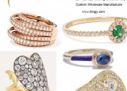 925 sterling silver rings fine jewelry custom oem