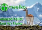 Balanced pellet plant for flame