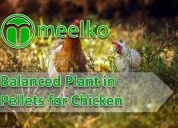 Balanced plant in pellets for chicken