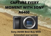 Sony a6400 camera best buy with extended warranty