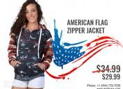 American flag zipper jacket