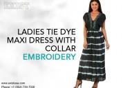 Glamorous ladies tie dye maxi dress - exist inc.
