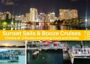 Super bowl weekend in miami, boat show booze cruis