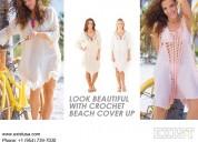 Crochet beach coverup online - exist inc