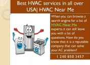 Get your heating and cooling system services