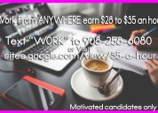 Earn $28 to $35 an hour from home no experience