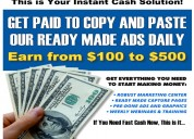 New income system ~ 100% instant commissions  paid