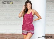 Short romper spaghetti strap for women -exist inc