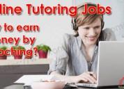 online tutoring job; teaching job, work from home