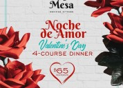 Valentine's day special - 4 course dinner