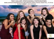 High school senior prom photo booth in dallas