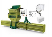 Greenmax a-c100 styrofoam recycling machine
