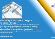 Manufacturing plant layout design – facility layou