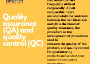What is the difference between quality control qc