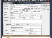Students registration form template | ecube apps.