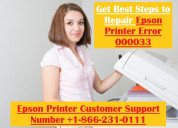 Dial +1-866-231-0111 | epson printer error 000033