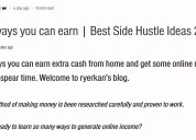 100 ways to earn online | best side hustle ideas f