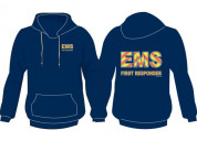 Ems stripe hoodie for emergency service provider