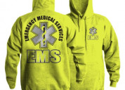 Ems safety green hoodie for men by emsshirts