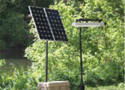 Solar power supply for security camera