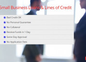 Small business loans & lines of credit