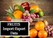 Fruits import export data