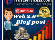 Buy web 20 blog post backlinks
