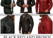 Café racer retro slim fit quilted biker jacket