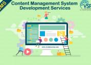 Content management system development services