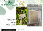 Buy premium quality reusable hemp face mask