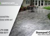 Stamped concrete patio dc