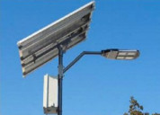 Solar streetlights with security camera
