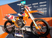 Factory mx graphics with its suzuki dirt bike