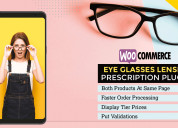 Woocommerce eye glasses lenses prescription plugin