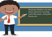 Call the musicians mobile teachers for music guida