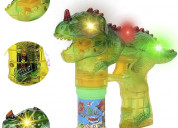Toysery dinosaur bubble shooter gun light up bubbl