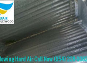 Put a hold on hard air with ac blowing hard air