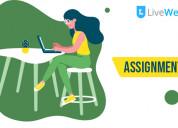 Exceptional assignment help service designed espec