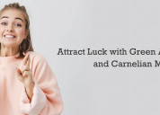 Attract luck with green aventurine and carnelian m