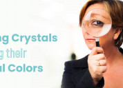 Identifying crystals using their natural colors