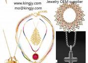 Custom necklace 18k gold 925 sterling oem manufact