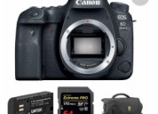 Canon eos 6d mark ii dslr camera body with accesso