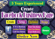 Facebook business page/ fan page create
