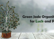 Green jade orgonite crystal for luck and protectio