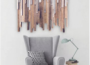 Sunset hanging garden modern reclaimed wood and mo