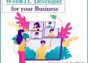Hire webrtc developer for your business - vspl