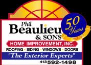 Roofing, siding, windows-beaulieu home improvement