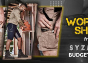 Buy work shorts from sizmik at budget safety wear
