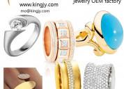 Custom design rose gold plated ring oem jewelry