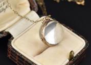 Gold pools of light rock crystal locket necklace